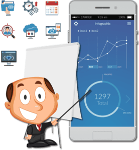 FlowCRM Social CRM Software on mobile device