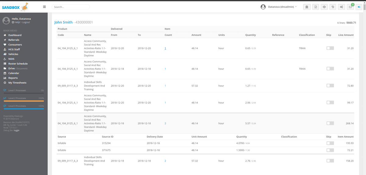 Bulk Payment Request Software for the NDIA Screen Shot