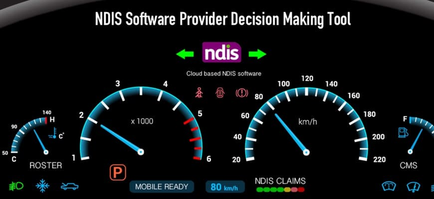ndis software program dashboard